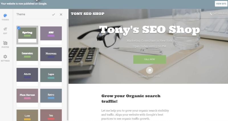 google-my-business-website-builder