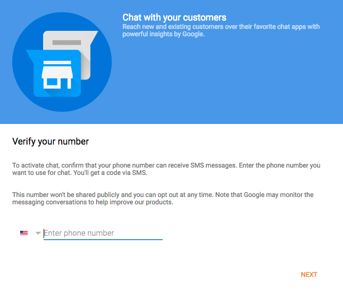 google my business message